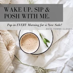 Morning Sip & Posh... Bookmark my Closet